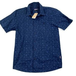 Patagonia Mens Small Go To Shirt Rock Wall Navy
